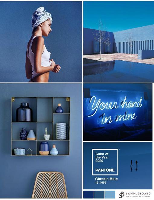 Pantone 2929 Classic Blue mood board