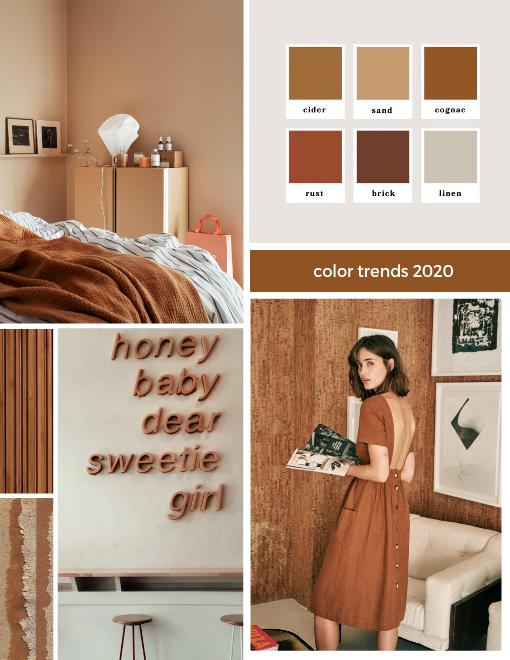 Interior trends 2020 brown