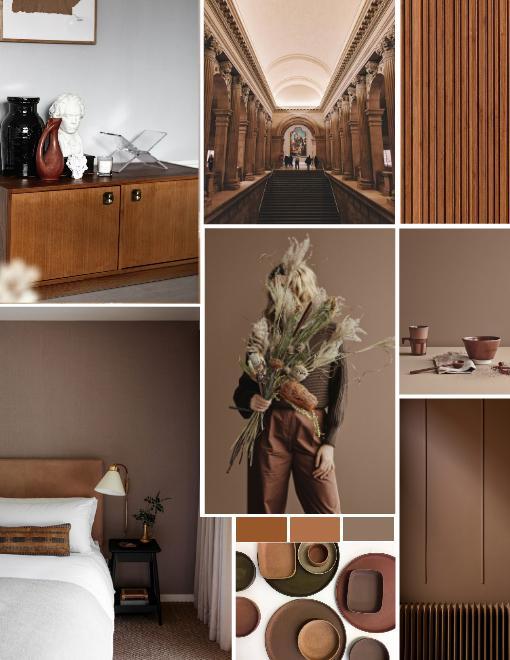 Interior color trend Brown