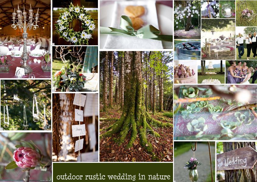 outdoor rustic wedding in nature
