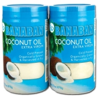 BANABAN Extra Virgin Coconut Oil 2 x 1 litre
