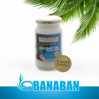 BANABAN GOURMET Organic Virgin Coconut Oil (Light Subtle Flavour) 350ml Glass
