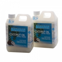 BANABAN Extra Virgin Coconut Oil 2 x 1 litre Easy Pour