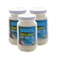 BANABAN CERTIFIED ORGANIC Extra Virgin Coconut Oil FIJI - 3x 350ml Glass