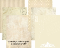 Chantilly Cream 8.3x11""