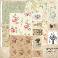 English Rose Garden Book Papers