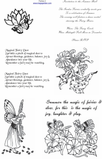 Fairy Pics & their Poetry Cut & Create