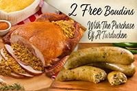 13 lb Turducken - Easter Special Pork Sausage Jambalaya - turducken.com