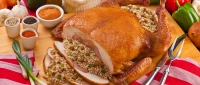 12lb Turducken - Cornbread & Pork Rice - turducken.com