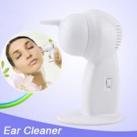Cordless Electric Earpick Ear Vacuum Cleaner Massager - White