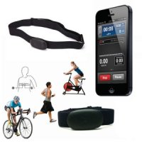 Stylish BT 4.0 Wireless Heart Rate Monitor Belt - Black