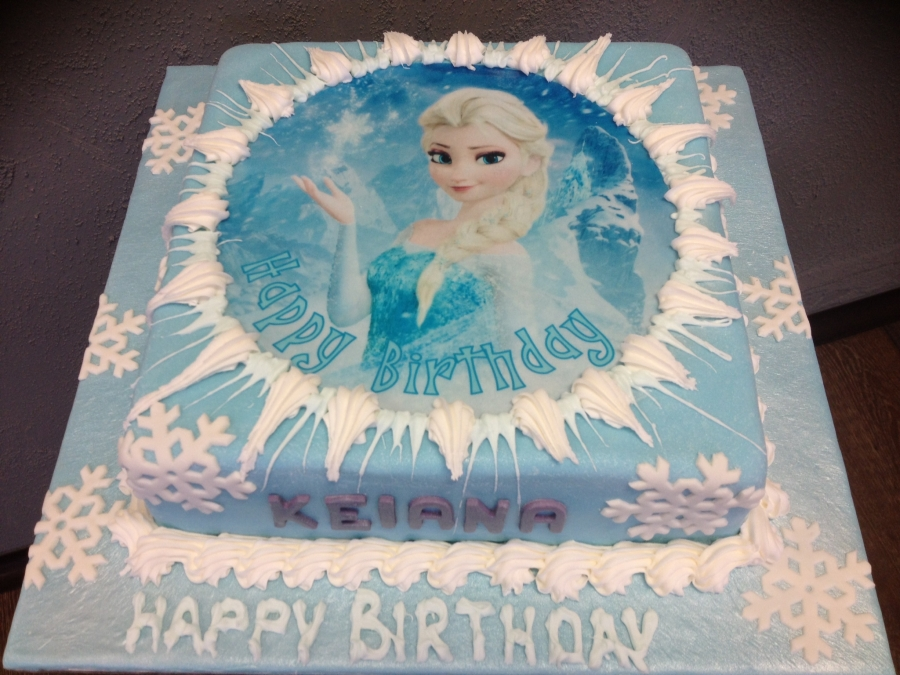 Selling Elsa Theme Birthday Cake A 110 00 Powered By Santu Com
