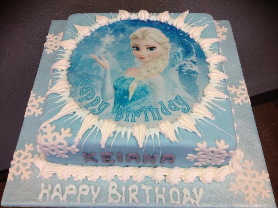 Elsa Theme Birthday Cake