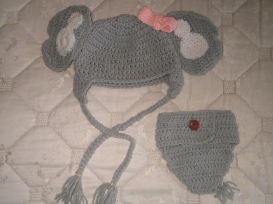 Baby elephant hat PDF Crochet PATTERN 0-6 months beanie infant ... | 675x900