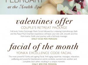 Valentines Offer €150, Farnham Estate Health Spa Co. Cavan