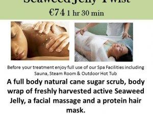 Seaweed Jelly Twist, The Peninsula Spa, Dingle Skellig Hotel Co. Kerry