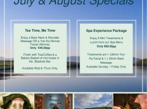 July & August  Packages, The Peninsula Spa, Dingle Skellig Hotel Co. Kerry