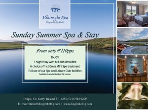 Sunday, Summer Spa & Stay, The Peninsula Spa, Dingle Skellig Hotel Co. Kerry