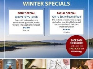 Winter Facial, The Peninsula Spa, Dingle Skellig Hotel Co. Kerry