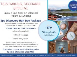 Half Day Spa Discovery Package, The Peninsula Spa, Dingle Skellig Hotel Co. Kerry