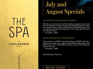 July & August Specials, The Spa at Castleknock Hotel Co. Dublin