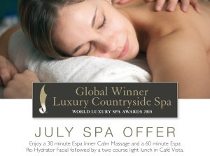 July Spa Offer, Farnham Estate Spa Co. Cavan