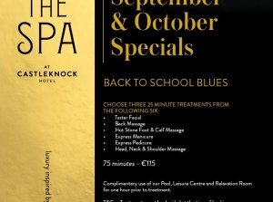 September & October Specials, The Spa at Castleknock Hotel Co. Dublin