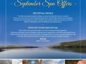 VOYA Hot Stone Back Ritual, The Peninsula Spa, Dingle Skellig Hotel Co. Kerry