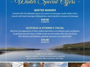 Winter Warmer, The Peninsula Spa, Dingle Skellig Hotel Co. Kerry