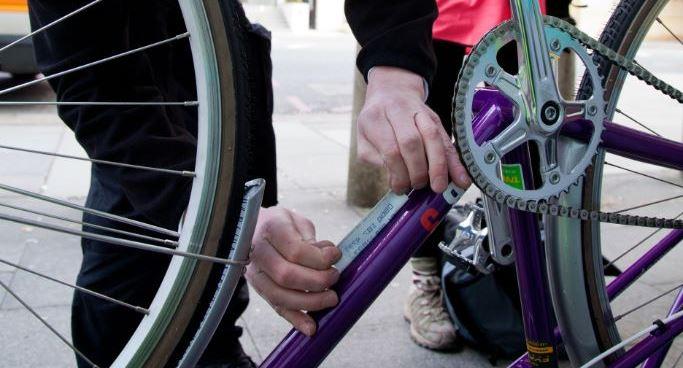 Bike security marking event