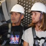 Bojje och Isac tyckte det var intressant att se hur ett vindkraftverk fungerade
