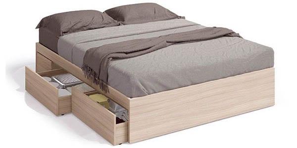 Precio m nimo cama con 4 cajones duehome kendra solo 150 for Cama con cajones precio