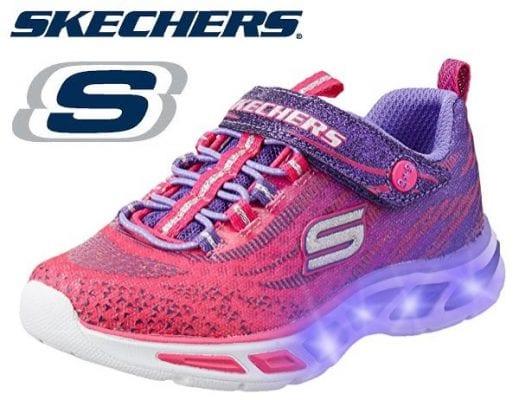 nueva llegada de calidad superior estilos de moda CHOLLO! Zapatillas Skechers S Lights con luces para niñas ...