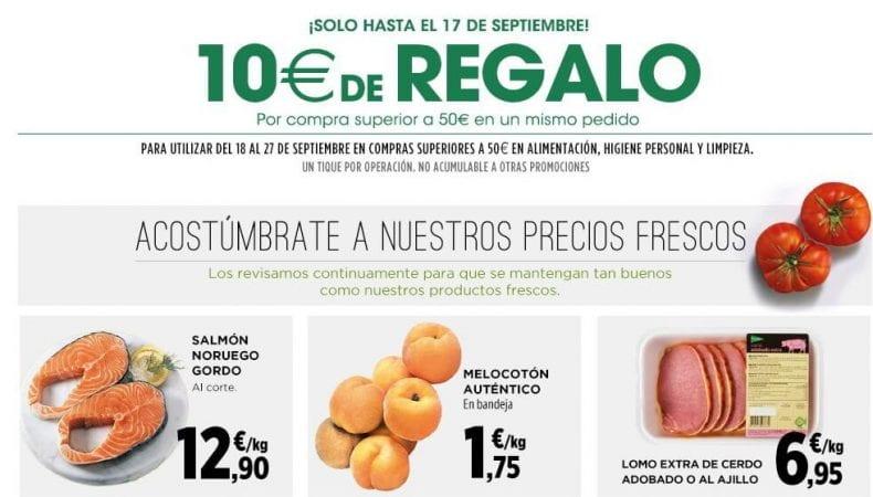 f4f37cfb559 SOLO HOY! 10€ de regalo en Supermercados de El Corte Inglés