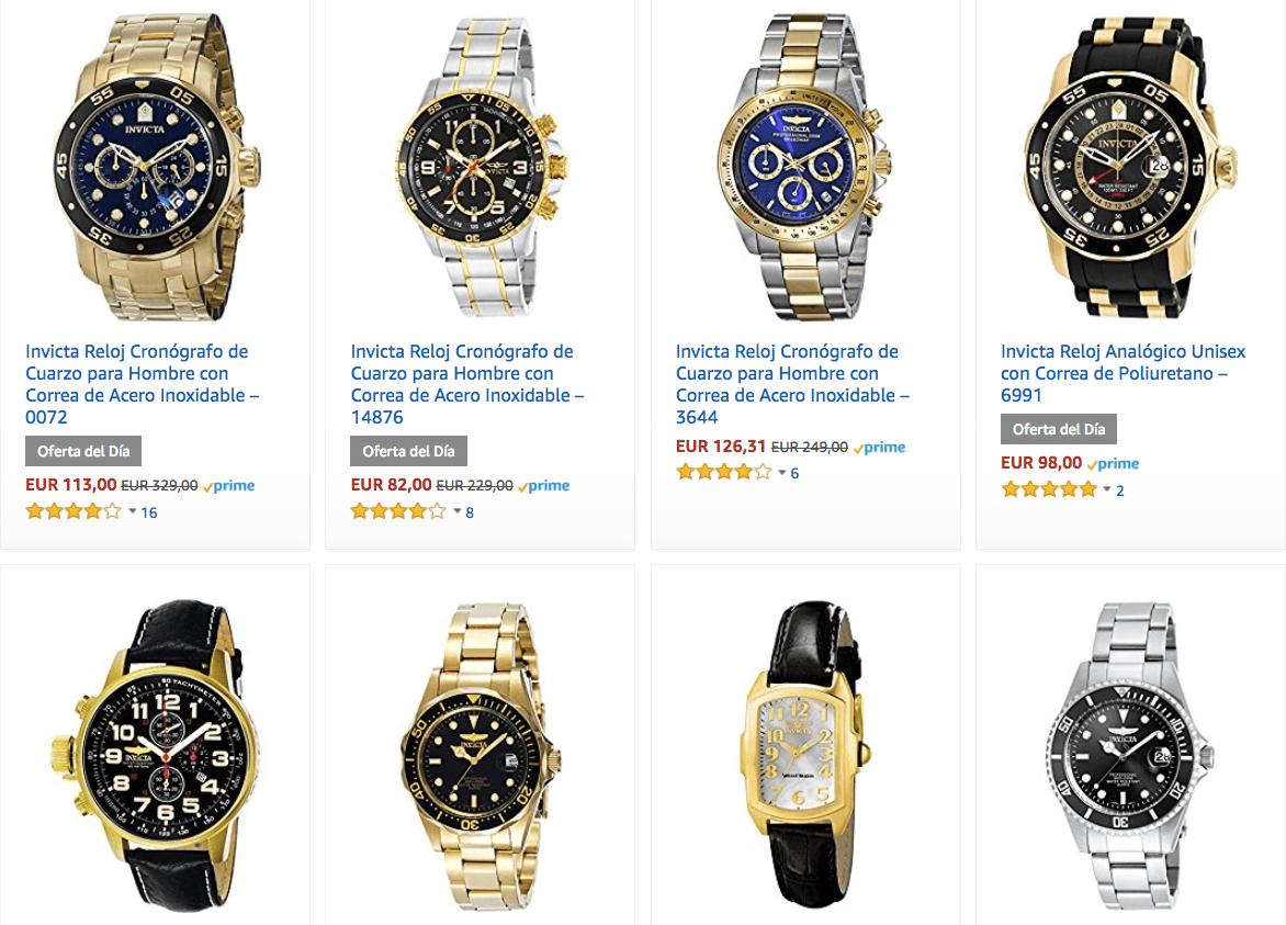 descuentos amazon relojes hombre