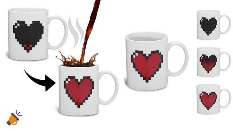 Taza mágica de San Valentín que cambia de color por solo 9,99€