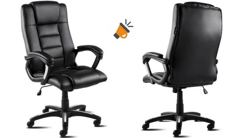 69% DTO! Silla de oficina extra acolchada McHaus por solo 59,99€