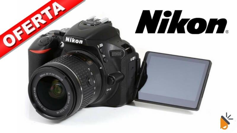 a37f5e002288 CHOLLAZO! Cámara réflex Nikon D5600 + objetivo 18-55mm por 429,99€
