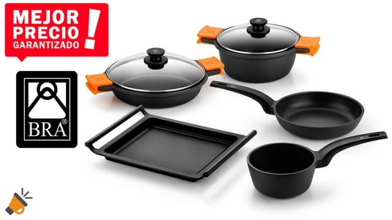 Mitad de precio bater a de cocina bra efficient 5 piezas for Amazon bateria cocina