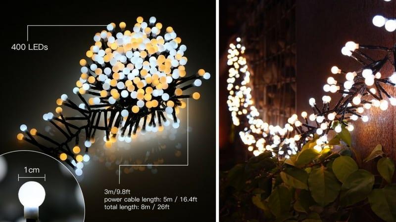 406baec2ade CUPÓN DTO! Luces decorativas con 100 LEDs y 13 metros por 11