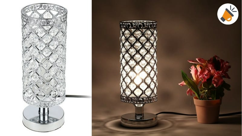 C digo dto l mpara mesa decorativa de cristal por tan for Lamparas de mesa de cristal