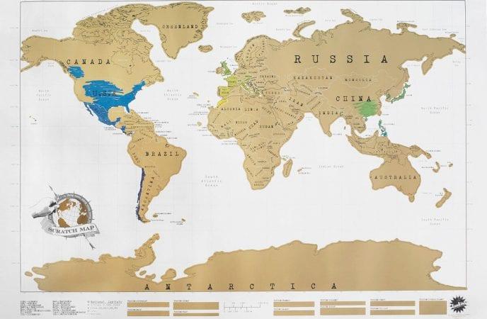 CHOLLO CUPÓN! Mapamundi de países para rascar por solo 3,52€