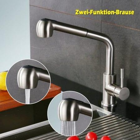 CUPÓN DTO! Grifo de cocina Homelody extraíble y giratorio por 39,99€