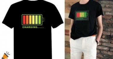 553702331 Camiseta con luces LED por solo 8