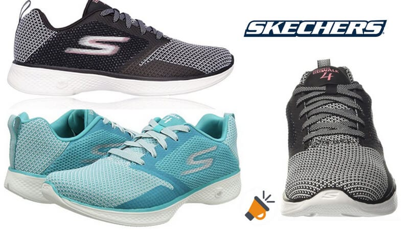 790ce8e629c23 MITAD DE PRECIO! Zapatillas Skechers Go Walk 4 para mujer por solo 29€