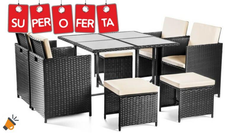 Ahorra 670 set de muebles de jard n mchaus 9 piezas por for Super chollo muebles