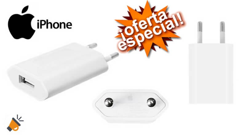 e557feda92a CHOLLAZO! Cargador de pared Original Apple IPhone por solo 9,69€