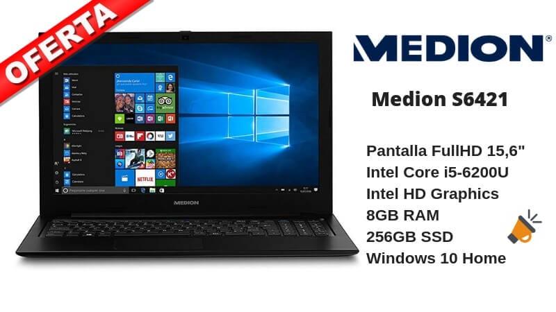 9cdefd7d4555 Ordenador Portátil Medion i5 con 8GB RAM 256GB SSD por 379€
