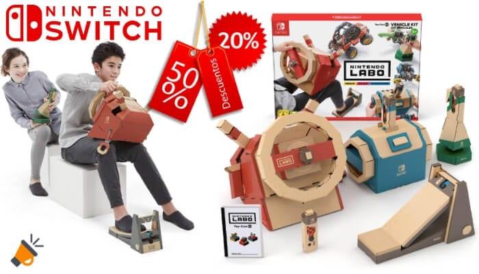 Antes 69 Nintendo Labo Toy Con Kit De Vehiculos Por Solo 39 90