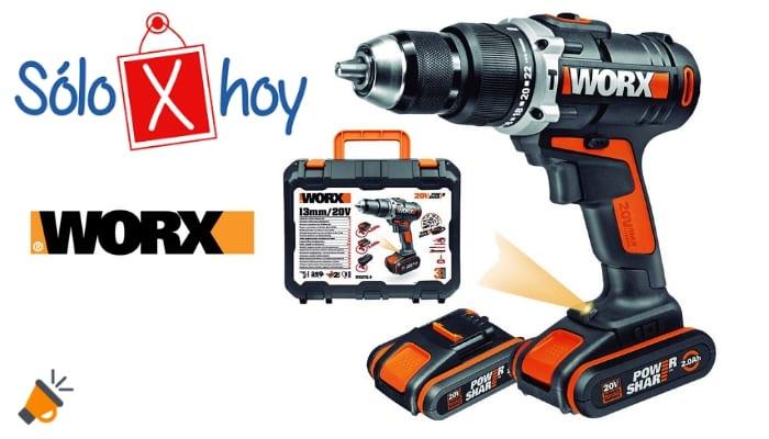 79da0f50da05 ⚡⚡¡SOLO HOY! Taladro percutor sin cable Worx + 2 baterías por 149€